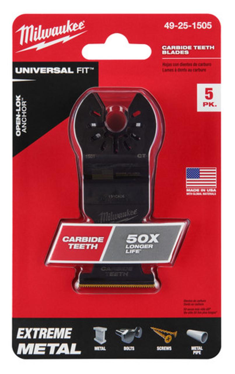 Milwaukee 49-25-1505 OPEN-LOK 1-3/8 in. Titanium Enhanced Carbide Teeth Metal Blade 5 pk