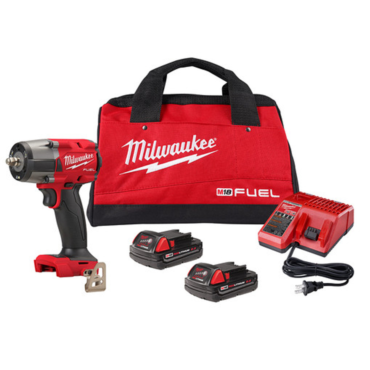 Milwaukee 2960-22CT M18 FUEL 3/8 Mid-Torque Impact Wrench w/ Friction Ring Kit