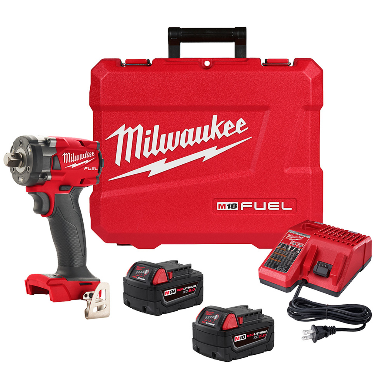 Milwaukee 2855P-22 M18 FUEL 1/2 Compact Impact Wrench w/ Pin Detent Kit