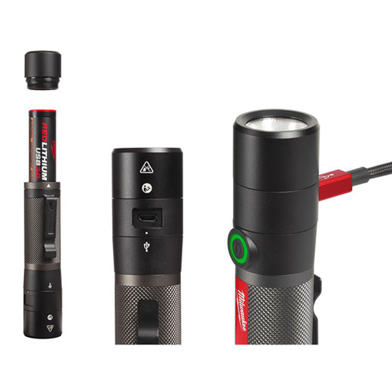 Milwaukee 2160-21 USB Rechargeable 800L Compact Flashlight