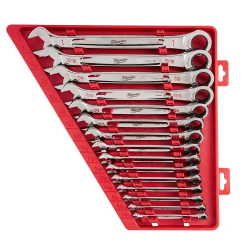 Milwaukee 48-22-9416 15pc Ratcheting Combination Wrench Set - SAE
