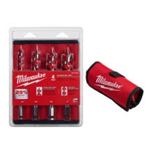 Milwaukee 48-13-4000 4 Piece Auger Bit Set