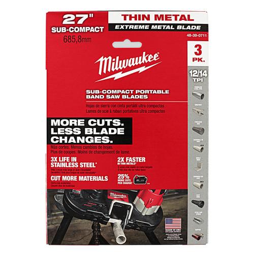 x 14//18 tpi Bi-Metal Portable Band Saw Blade 10 pk MK Morse ZWEP271418MC 27 in