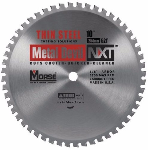 MK Morse Metal Devil NXT Thin Steel 10 in 52T Circular Saw Blade