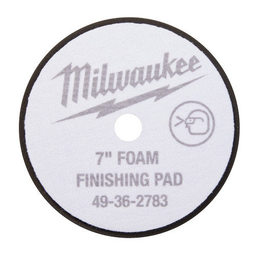 Milwaukee 49-36-5783 7 in. Black Foam Finishing Pad 5 Pack