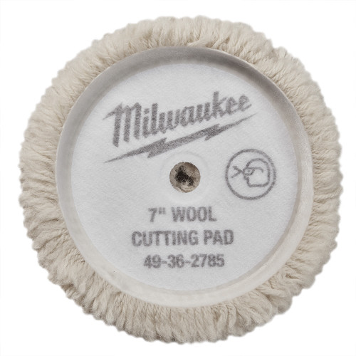 Milwaukee 49-36-5785 7 in. Wool Cutting Pad 5 Pack