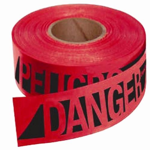 Empire 76-0604 Reinforced DANGER/PELIGRO - Tape Red 3 in. x 500 ft.