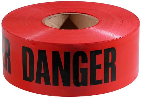 Empire 71-1004 Economy Danger Barricade Tape 1000 ft. x 3 in. Red