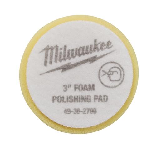 Milwaukee 49-36-5790 3 in. Yellow Foam Finishing Pad 5 Pack