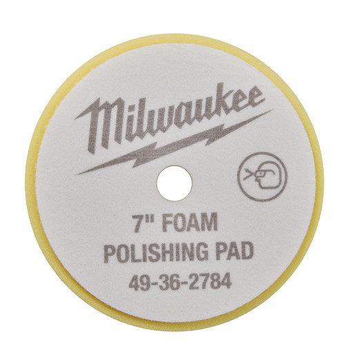 Milwaukee 49-36-5784 7 in. Yellow Foam Finishing Pad 5 Pack