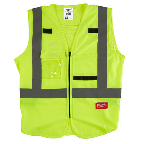 Milwaukee 48-73-5022 High Visibility Yellow Safety Vest - L/XL