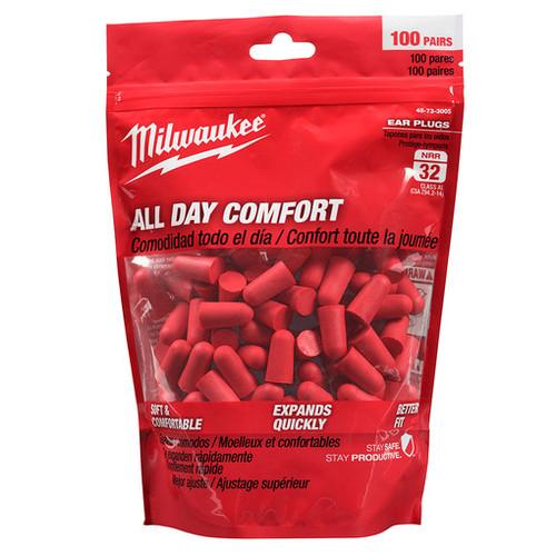 Milwaukee 48-73-3005 Ear Plugs 100 Pairs
