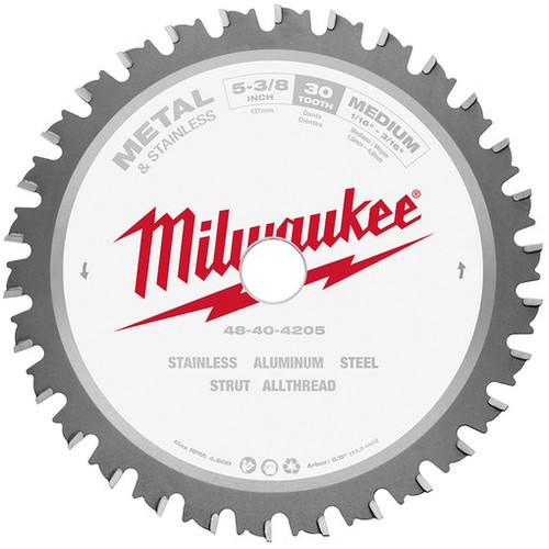 Milwaukee 48-40-4205 5-3/8 Metal Cutting Circular Saw Blade 5/8 Arbor