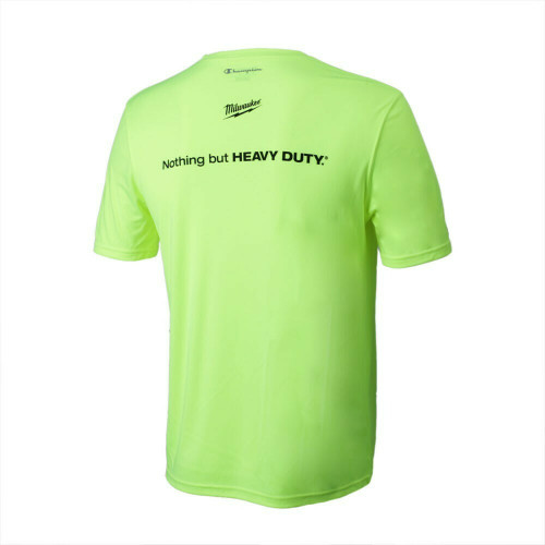 Milwaukee MWT155-L Safety Green Double Dry Interlock T-Shirt Large