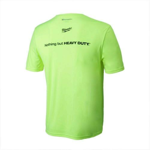 Milwaukee MWT155-2XL Safety Green Double Dry Interlock T-Shirt 2X-Large
