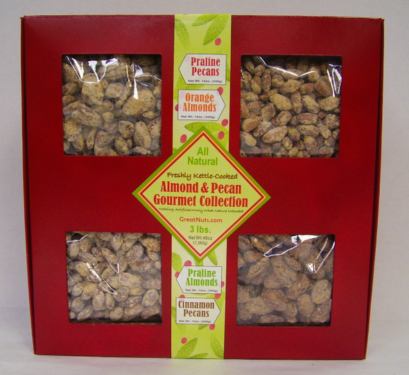 All Natural Gourmet Kettle-Cooked Almond & Pecan Collection, Net Wt:  3 lbs.