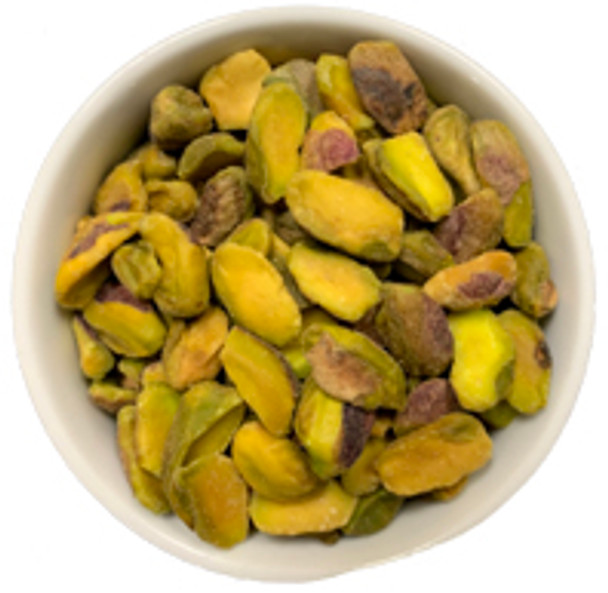 Pistachios dry roasted and salted out of the shell for easy eating