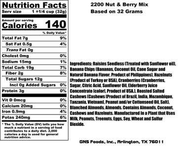 Nut & Berry Nutritional