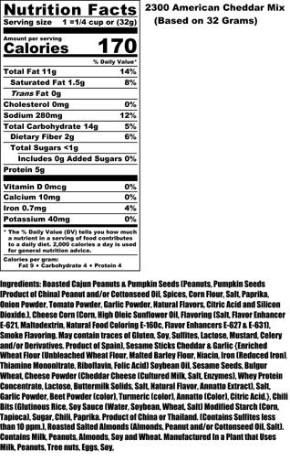 American Cheddar Nutritional