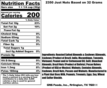 Just Nuts Nutritional