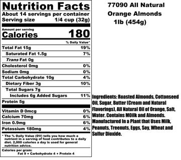 Orange Almonds Nutritional