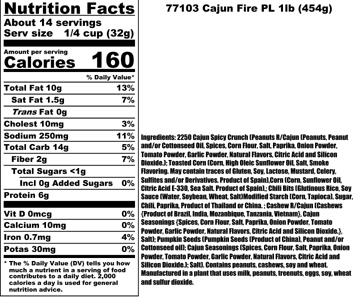 Cajun Fire Nutritional