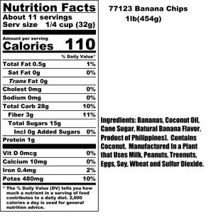 Banana Chips Nutritional