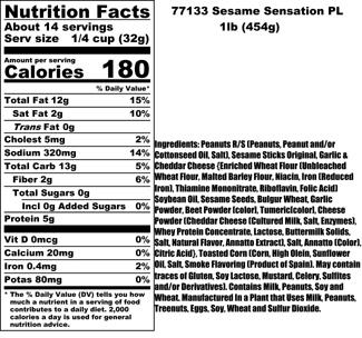 Sesame Sensation Nutritional