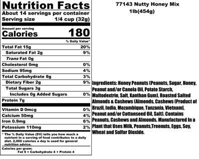 Nutty Honey Nutritional