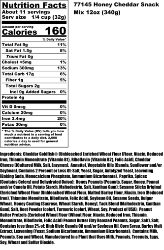Honey Cheddar Nutritional
