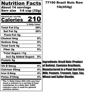 Brazil Nuts Nutritional