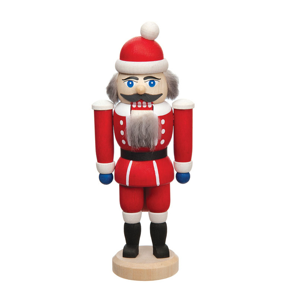 German Nutcracker dressed as Santa