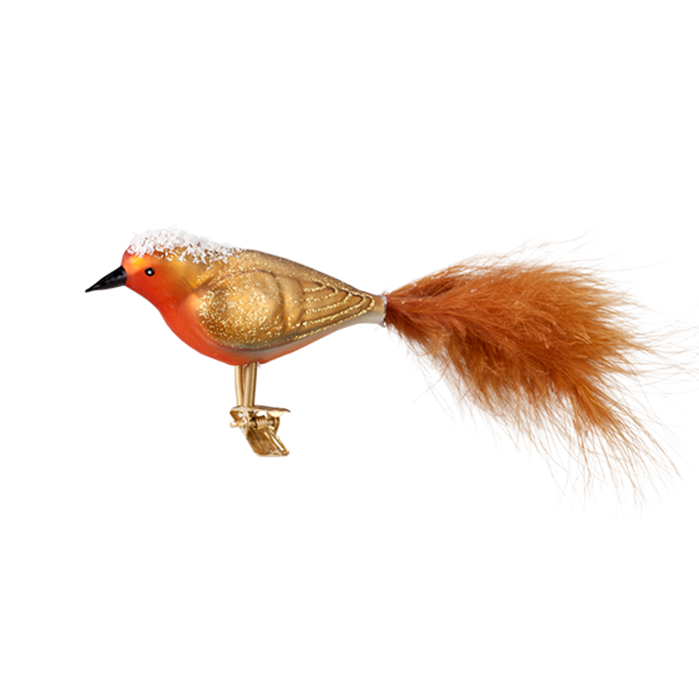 Snowy Gold Bird Clip