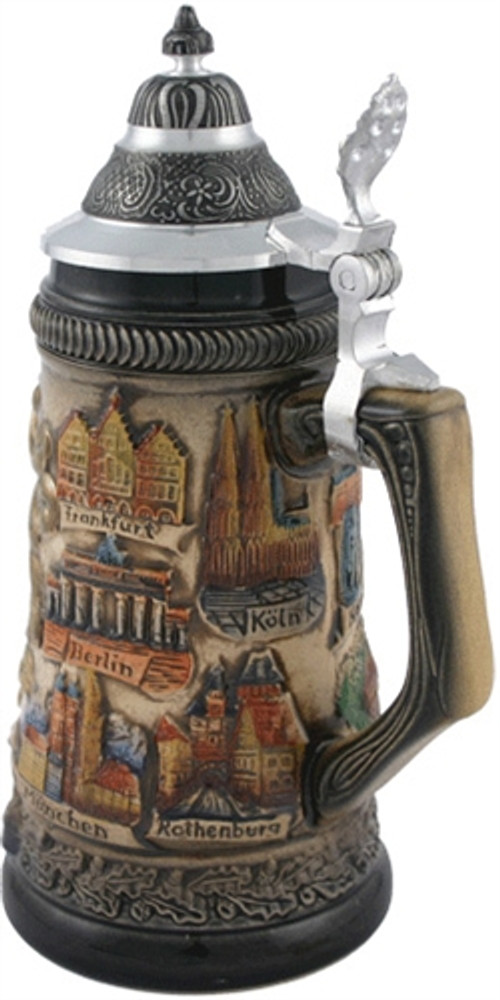German Cities Crest Beer Stein