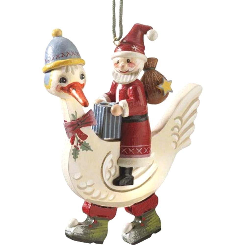 Santa Claus With Goose