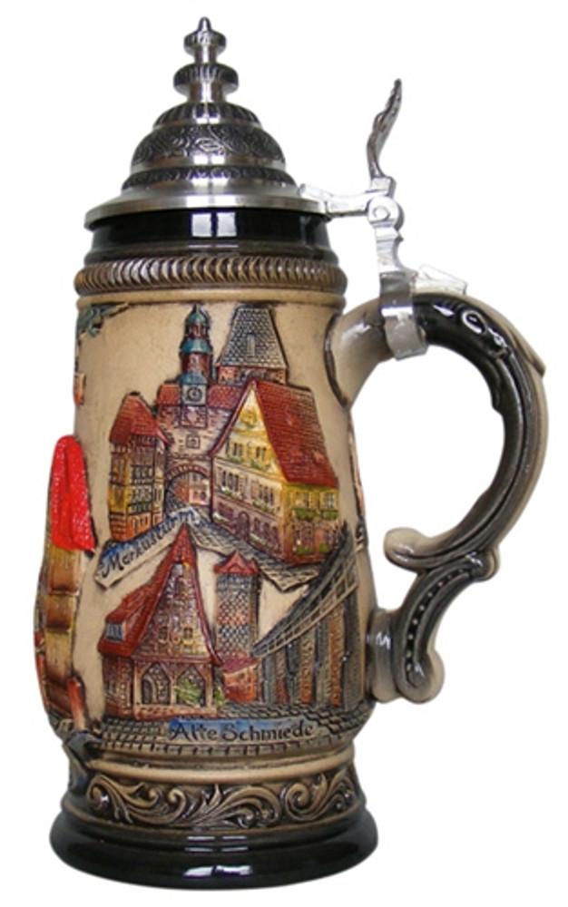 Rothenburg Red Beer Stein 1/2 Liter