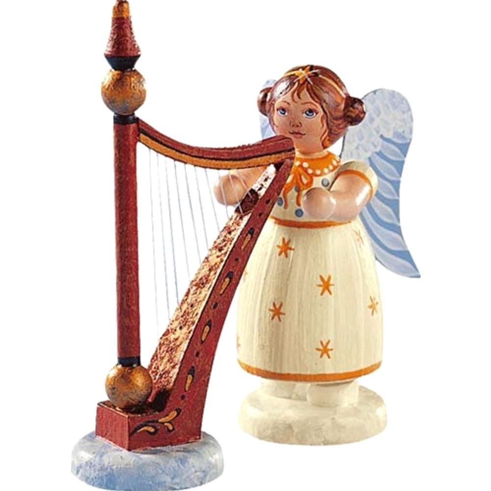 Yellow Stars Angel with Harp