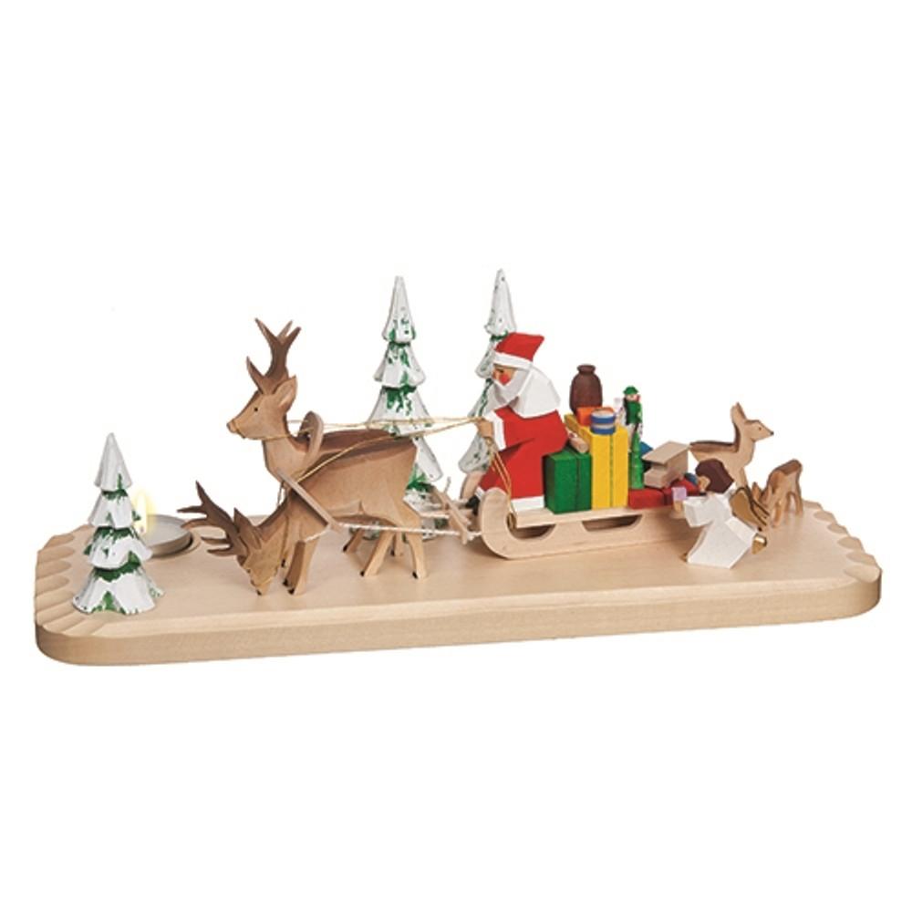 Santa Sleigh Candleholder