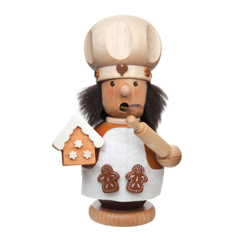 Baker Making Gingerbread Houses Incense Smoker