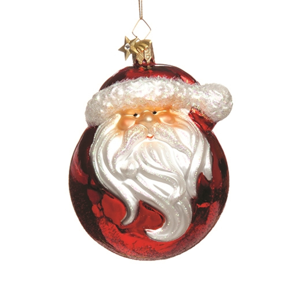 Glass Sphere Santa
