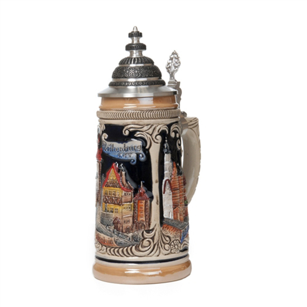 Blue Rothenburg Scenes Beer Stein