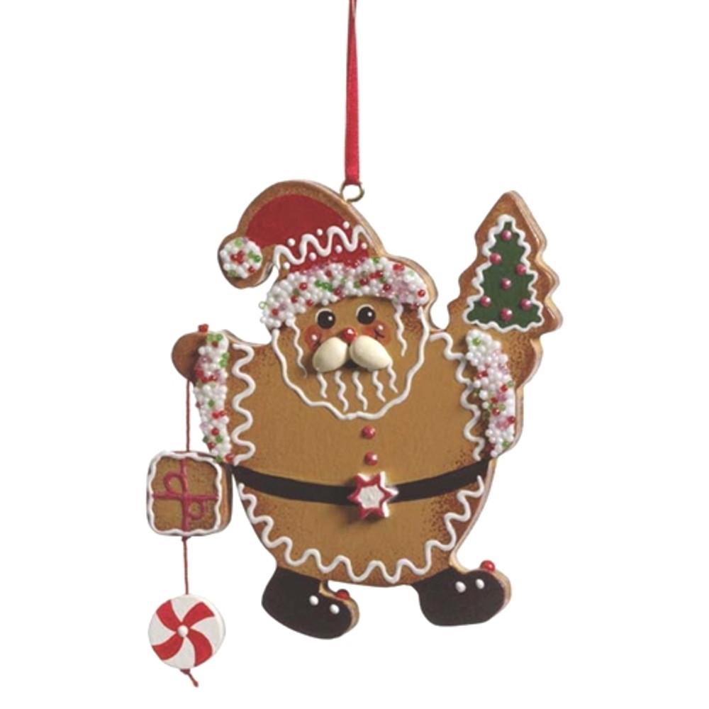 Gingerbread Santa with Tree