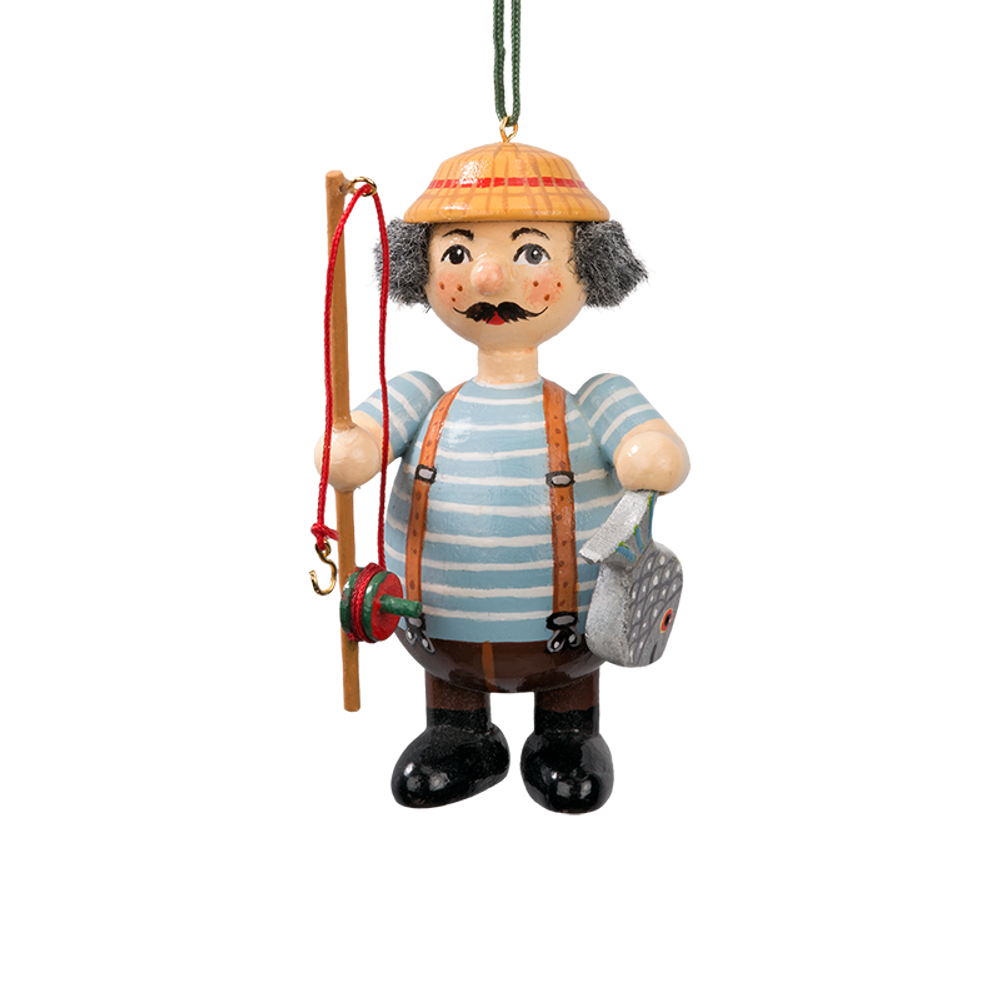 Holzbuddy Fisherman Wood Ornament
