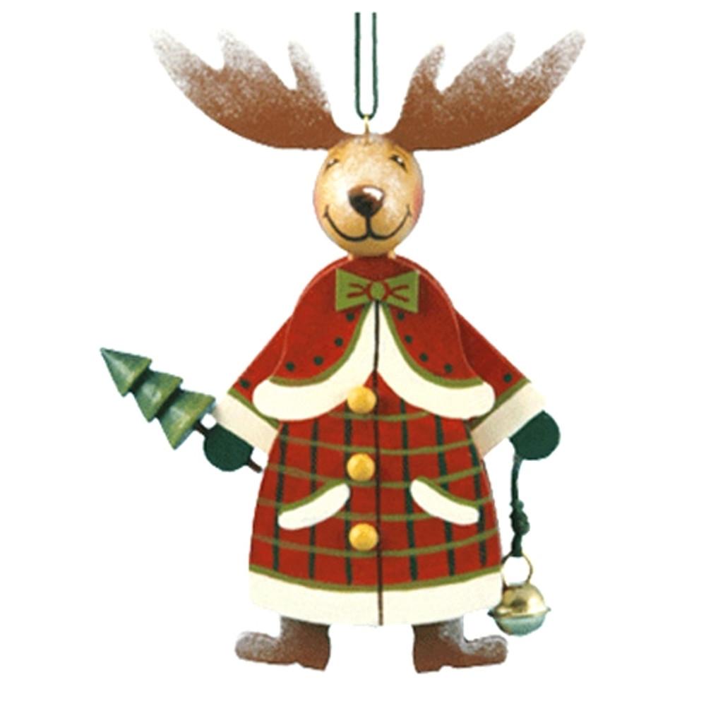 Reindeer in Winter Coat