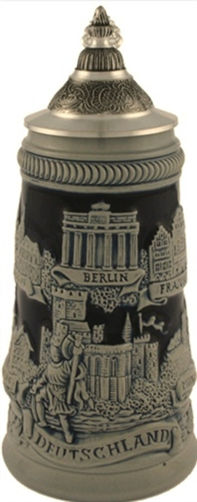 German Towns Beer Stein