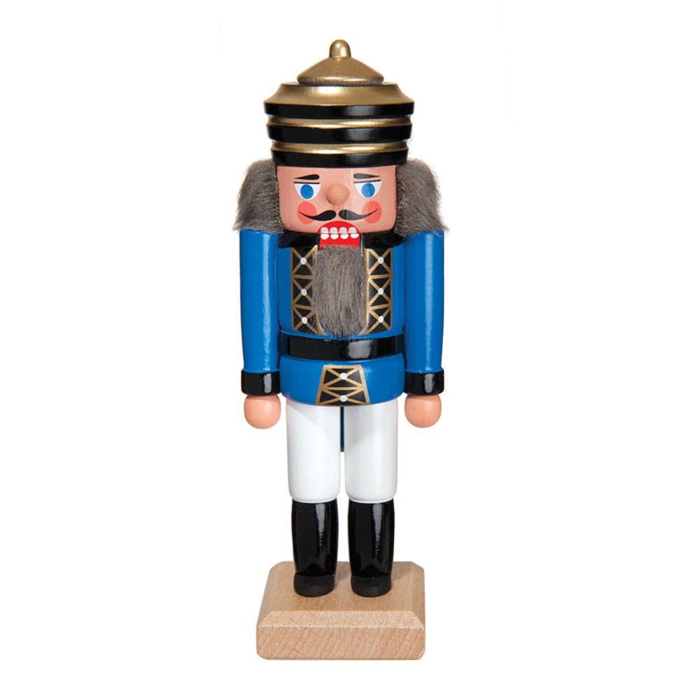 "King Blue Striped Crown 5 1/2"" Nutcracker"