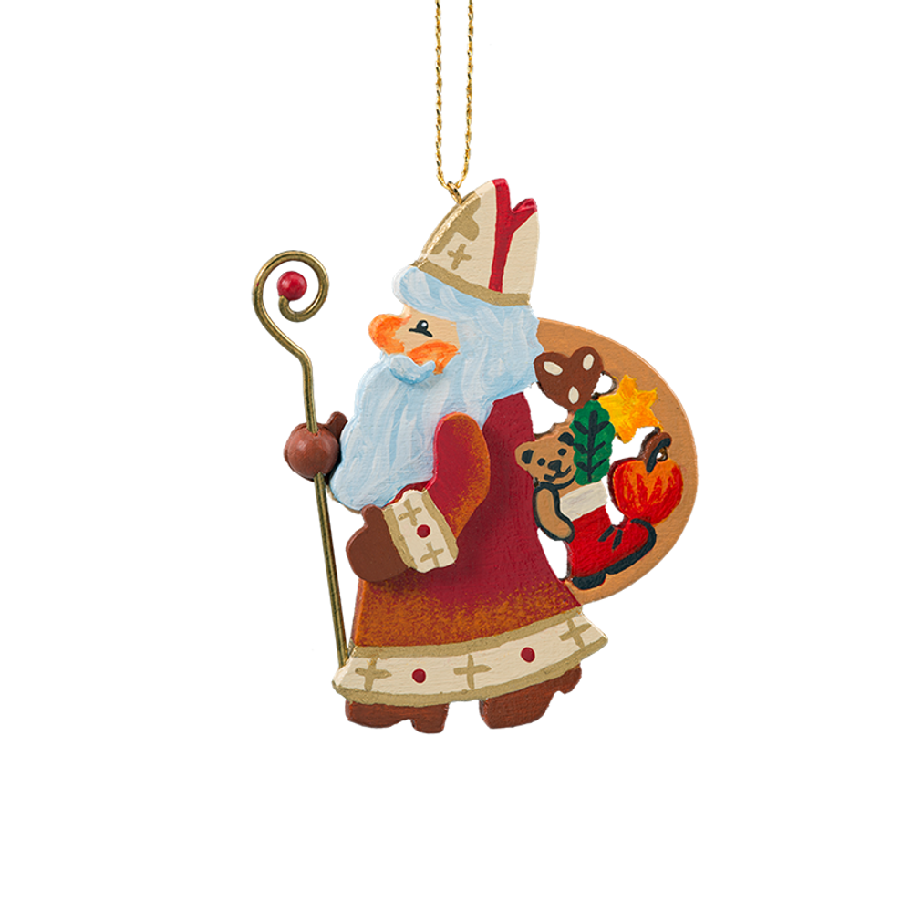 Saint Nicholas Colorful Chirstmas Wood Ornament