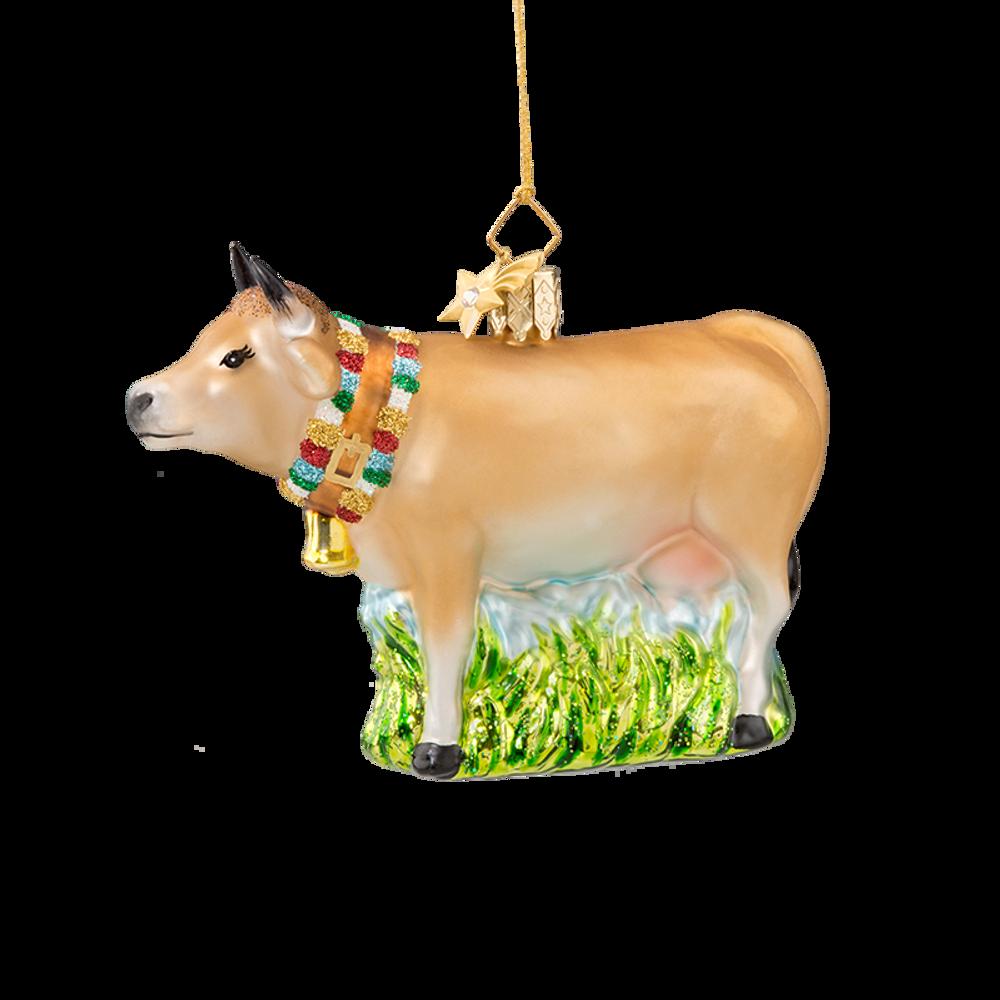 Animal Series Cow Glass Ornament