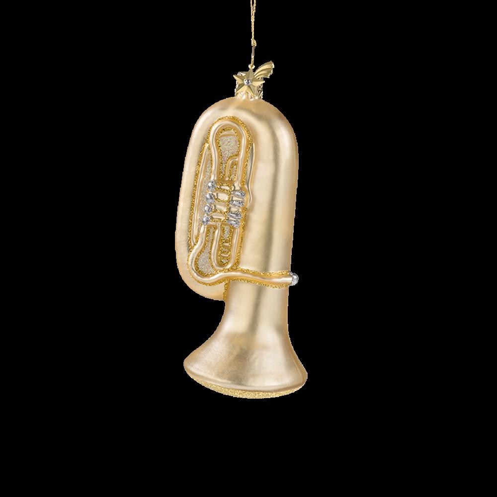 Tuba Glass Ornament