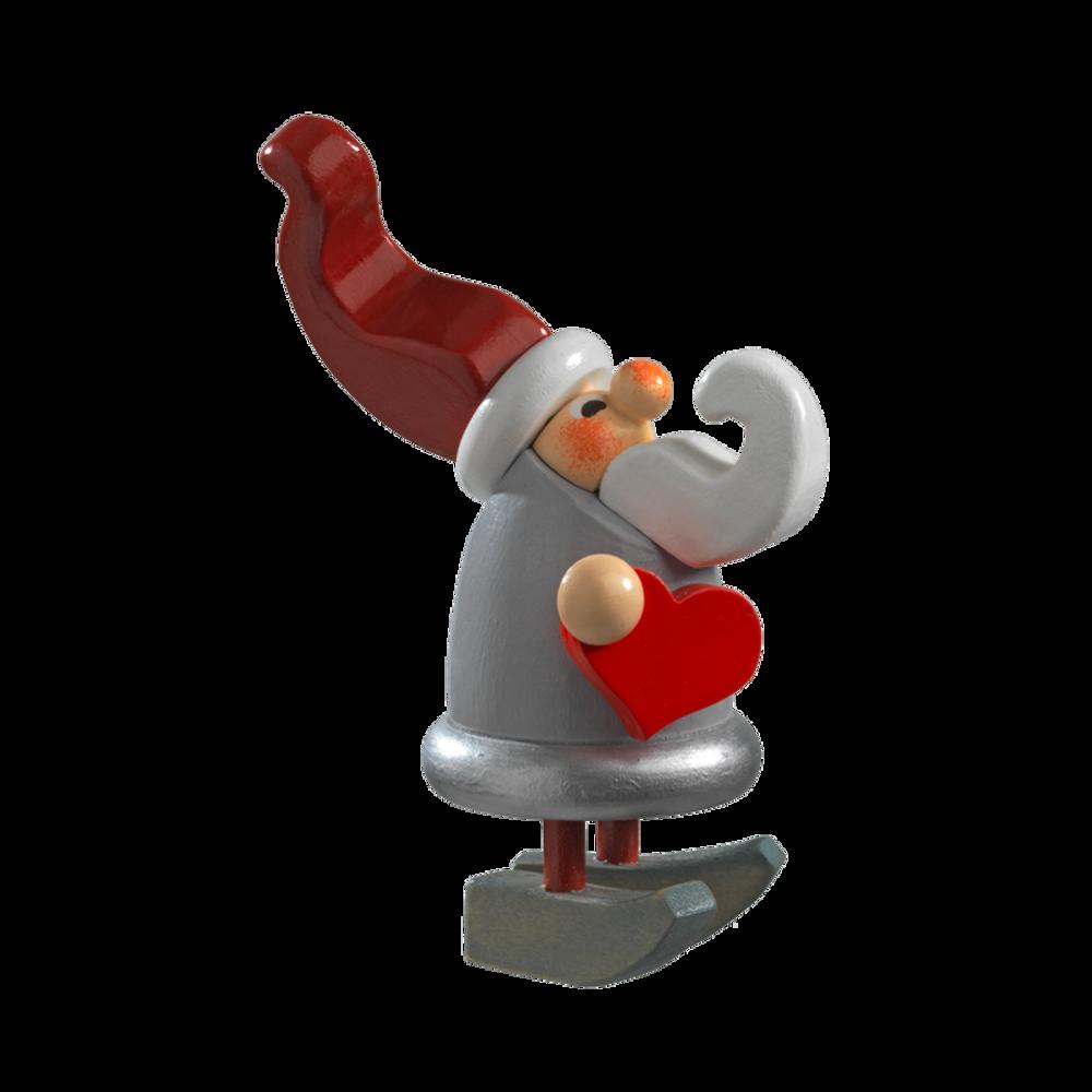 Christmas Elf with Heart Figure